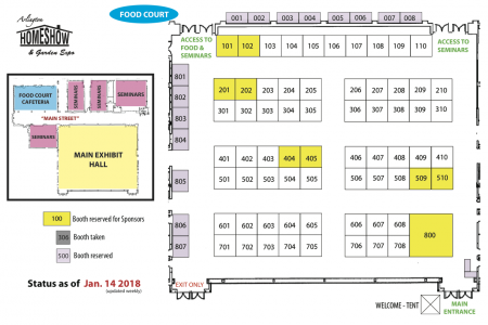 Exhibitors: Choose your booth!